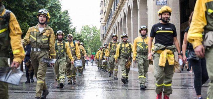 El personal laboral de bomberos forestales de Madrid pide tener una categoría profesional